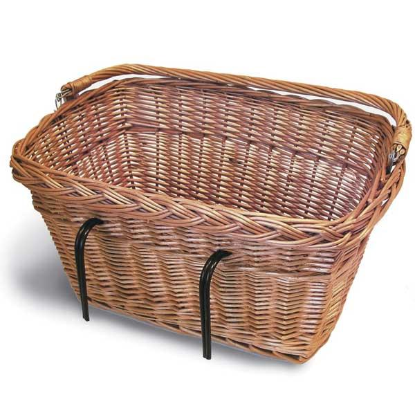 Rectangular Wicker Bike Basket